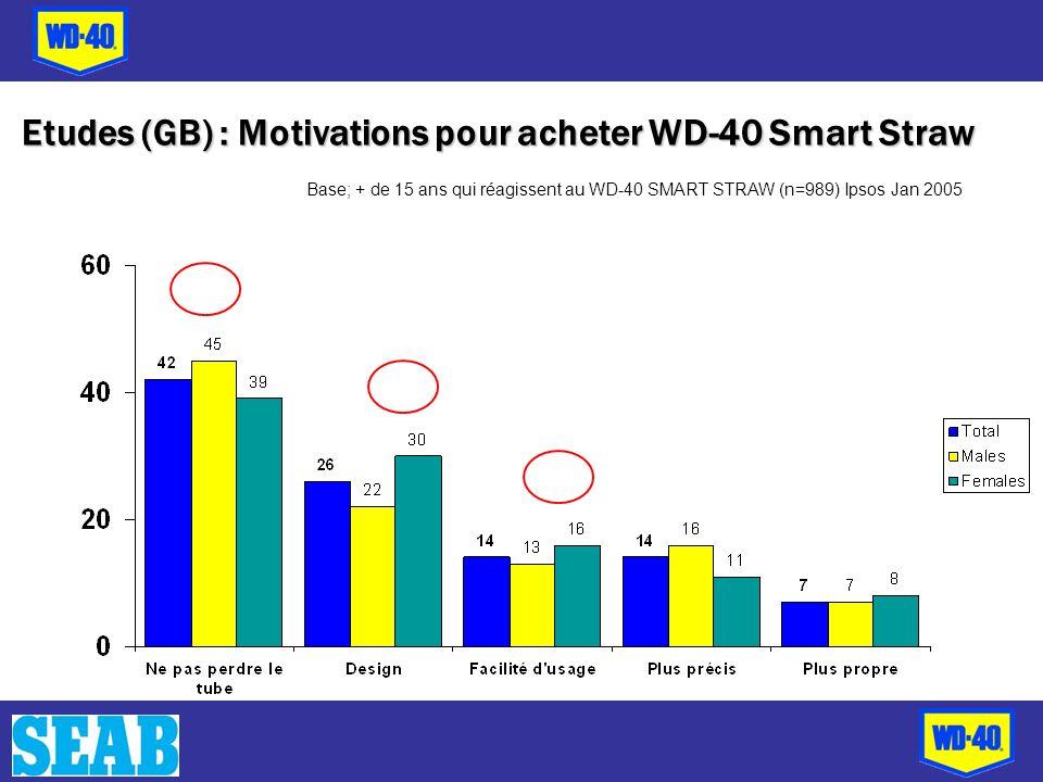 Etudes (GB) : Motivations pour acheter WD-40 Smart Straw