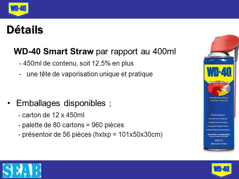 Détails Emballages disponibles ;