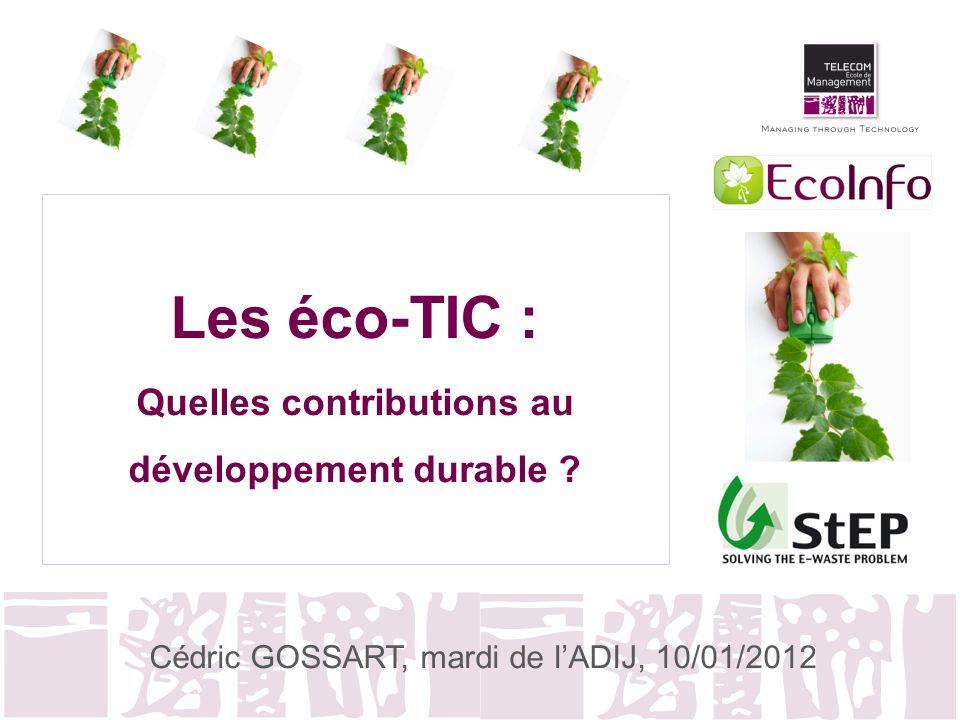 Les éco-TIC : Quelles contributions au développement durable