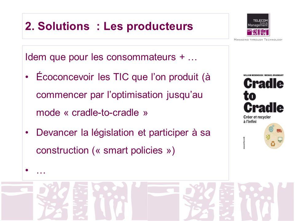2. Solutions : Les producteurs