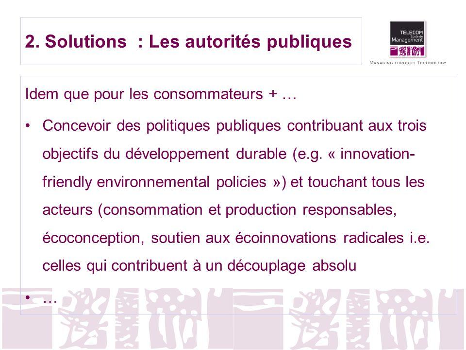 2. Solutions : Les autorités publiques