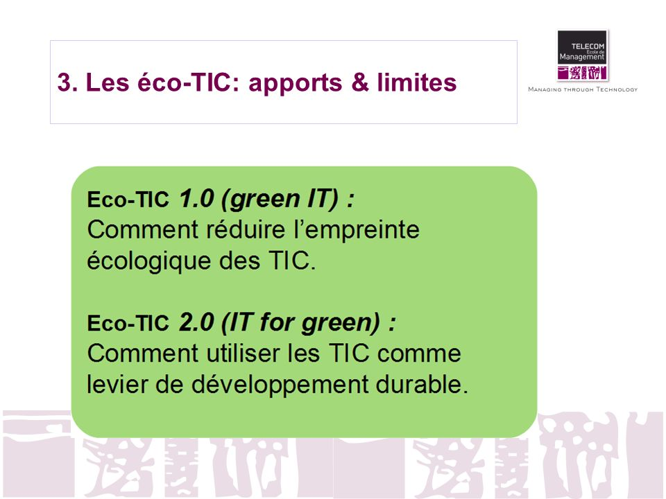 3. Les éco-TIC: apports & limites