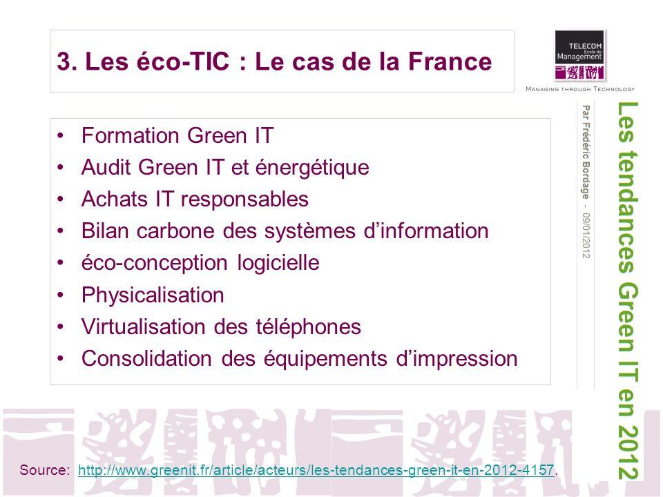 3. Les éco-TIC : Le cas de la France