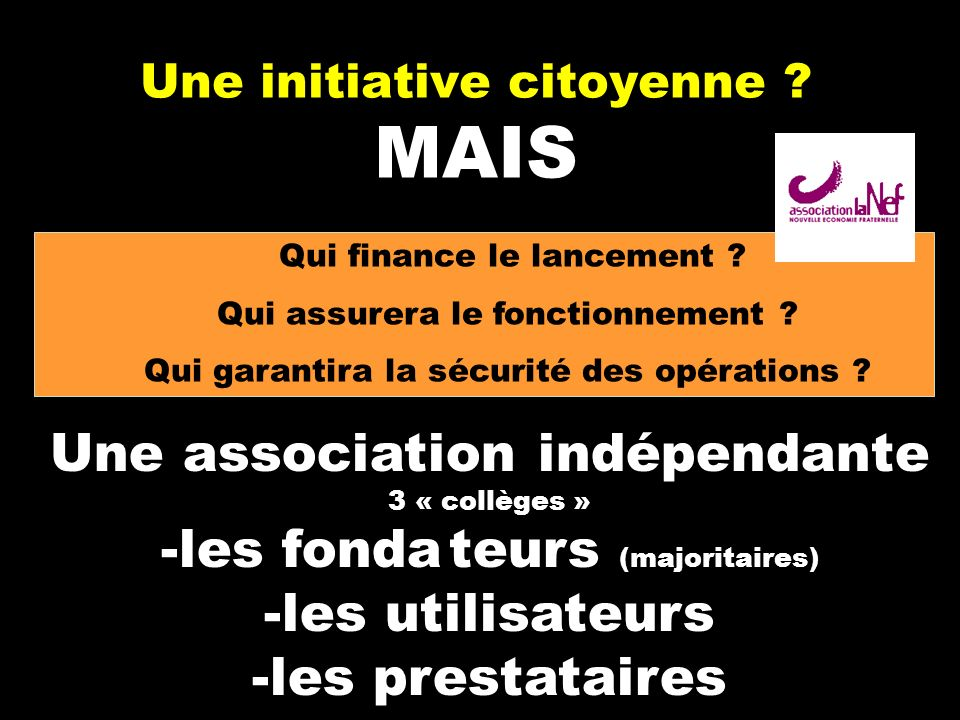Une initiative citoyenne