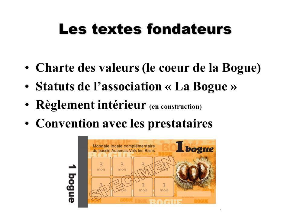Les textes fondateurs Charte des valeurs (le coeur de la Bogue)
