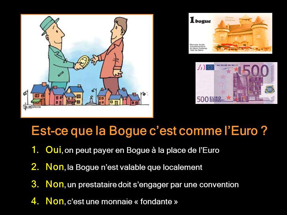 Est-ce que la Bogue c'est comme l'Euro