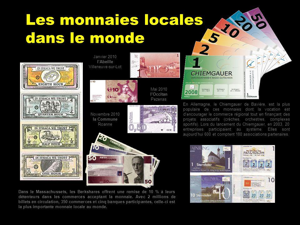 Les monnaies locales dans le monde