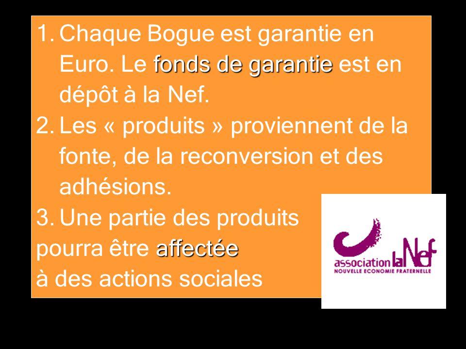 Chaque Bogue est garantie en Euro