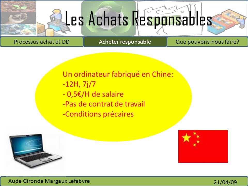 Un ordinateur fabriqué en Chine: 12H, 7j/7 0,5€/H de salaire