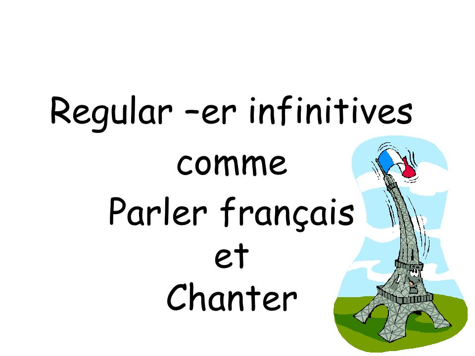 Regular –er infinitives