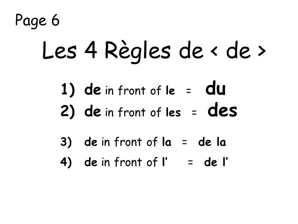 Les 4 Règles de < de >