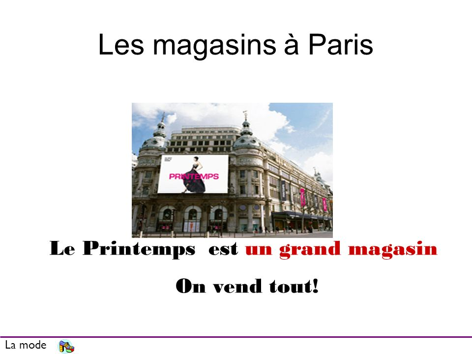 Le Printemps est un grand magasin
