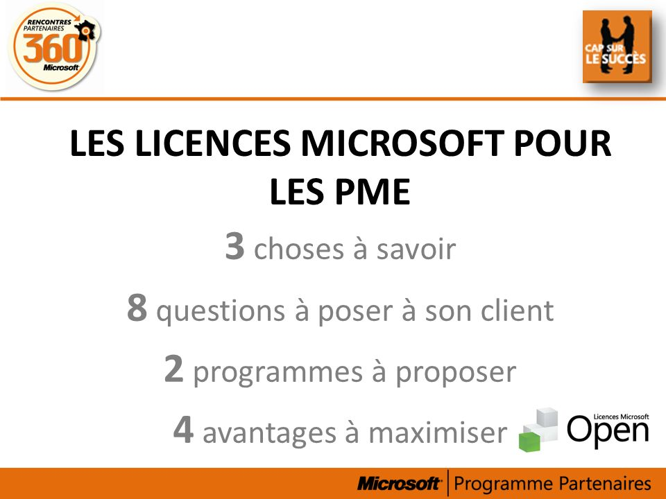 Les licences Microsoft pour les PME