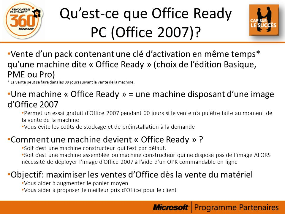 Qu'est-ce que Office Ready PC (Office 2007)