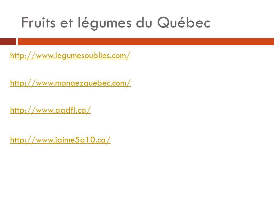 Fruits et légumes du Québec