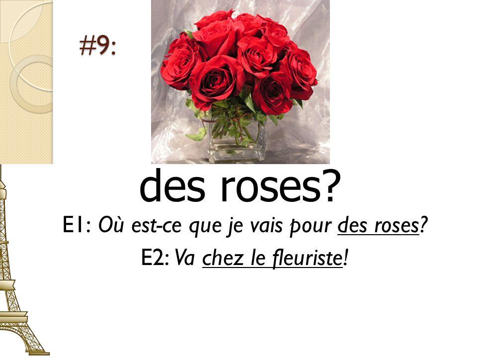 E1: Où est-ce que je vais pour des roses