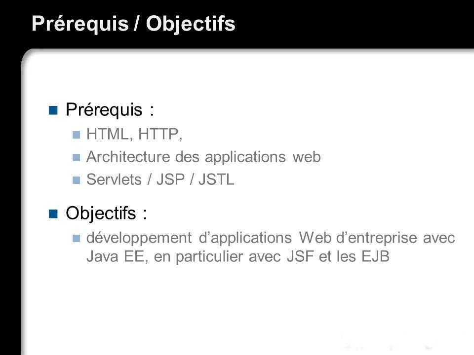 Prérequis / Objectifs Prérequis : Objectifs : HTML, HTTP,