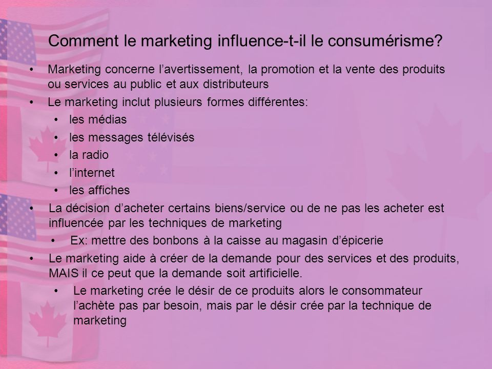 Comment le marketing influence-t-il le consumérisme
