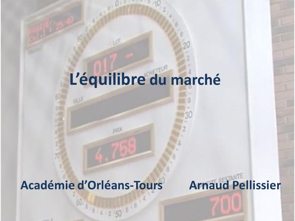 L'équilibre du marché Académie d'Orléans-Tours Arnaud Pellissier