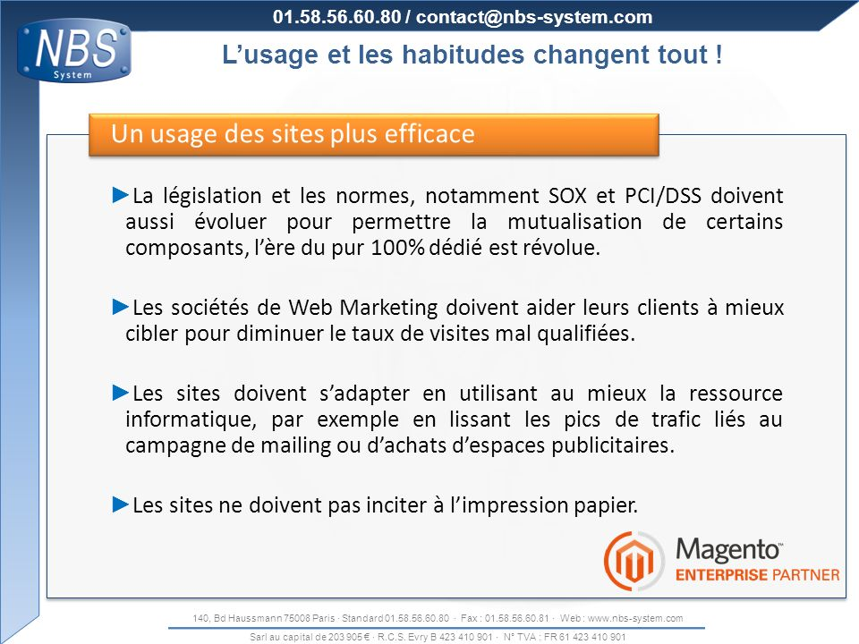 Un usage des sites plus efficace