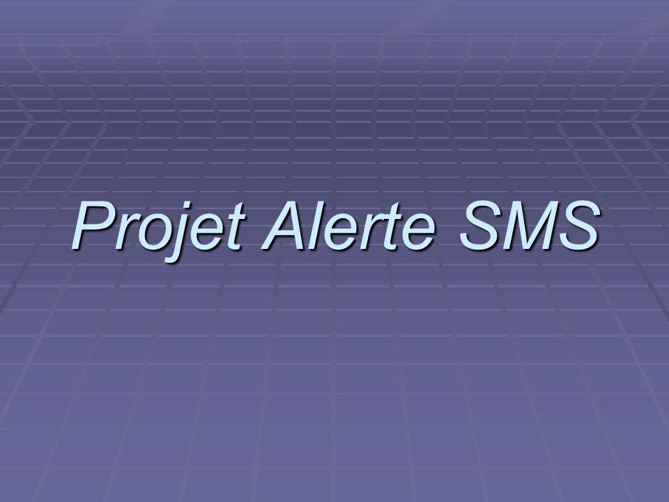 Projet Alerte SMS