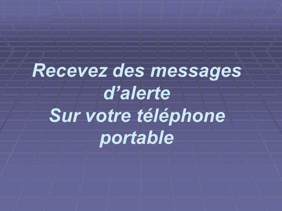 Sur votre téléphone portable