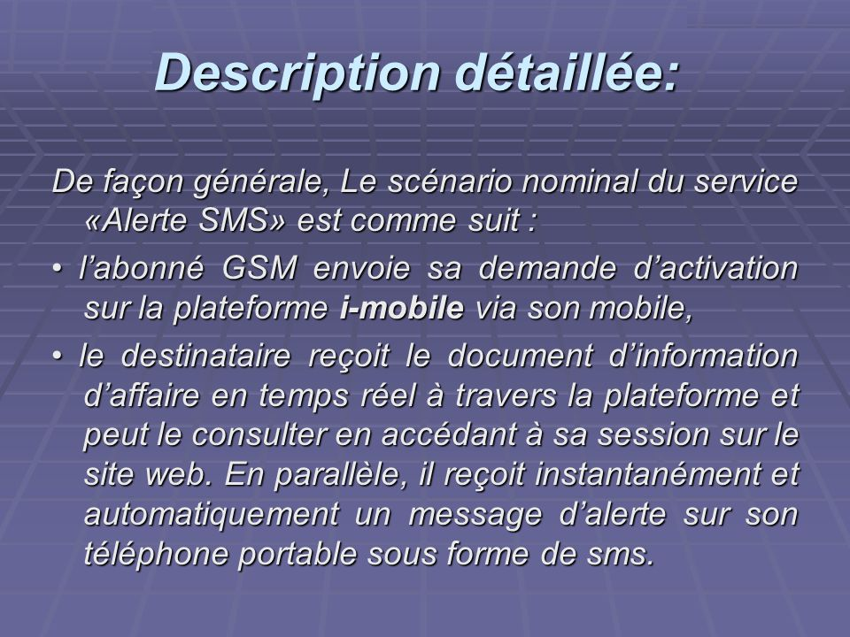 Description détaillée: