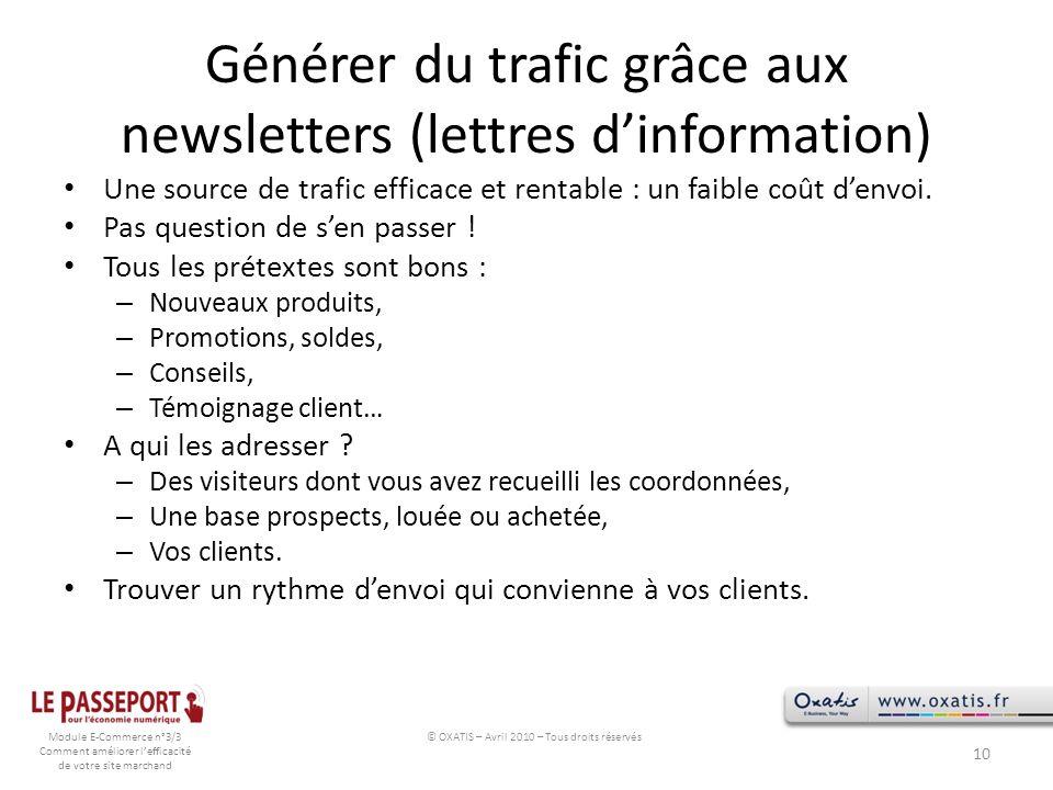 Générer du trafic grâce aux newsletters (lettres d'information)