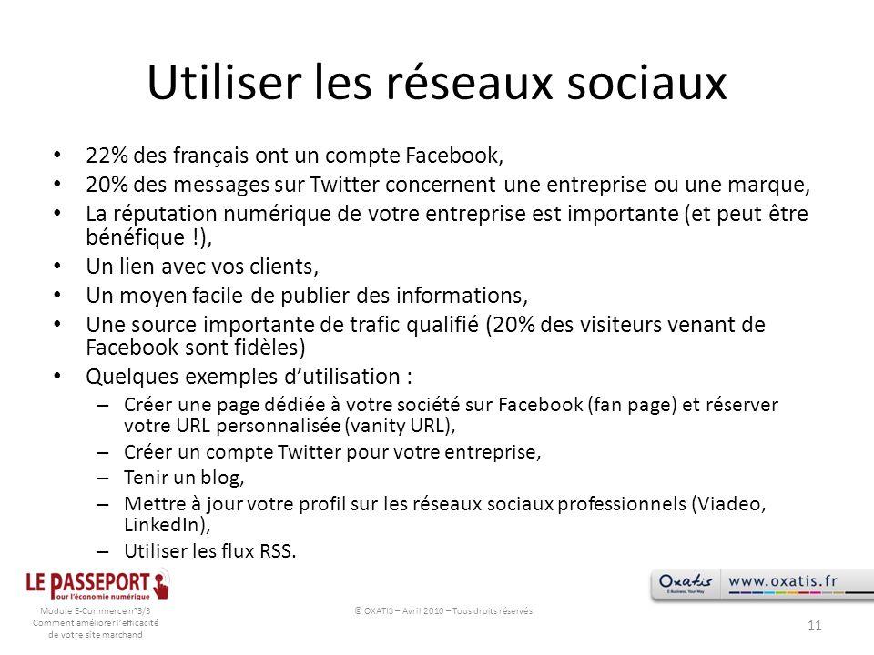 Utiliser les réseaux sociaux