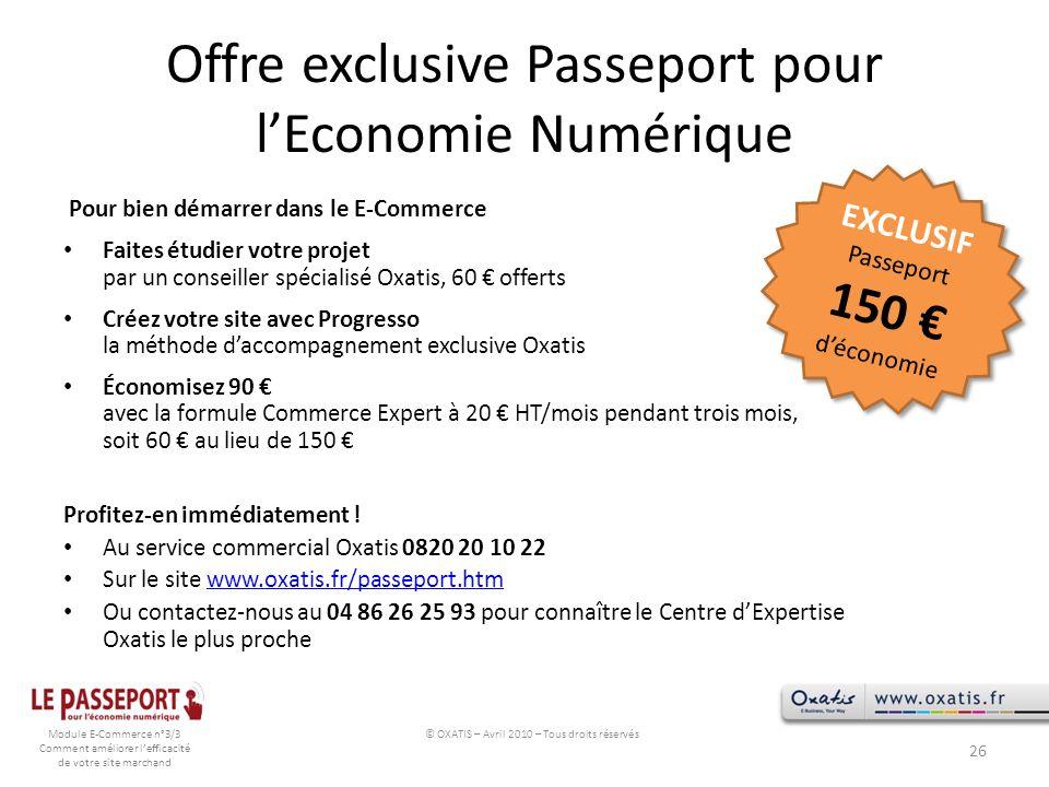 Offre exclusive Passeport pour l'Economie Numérique