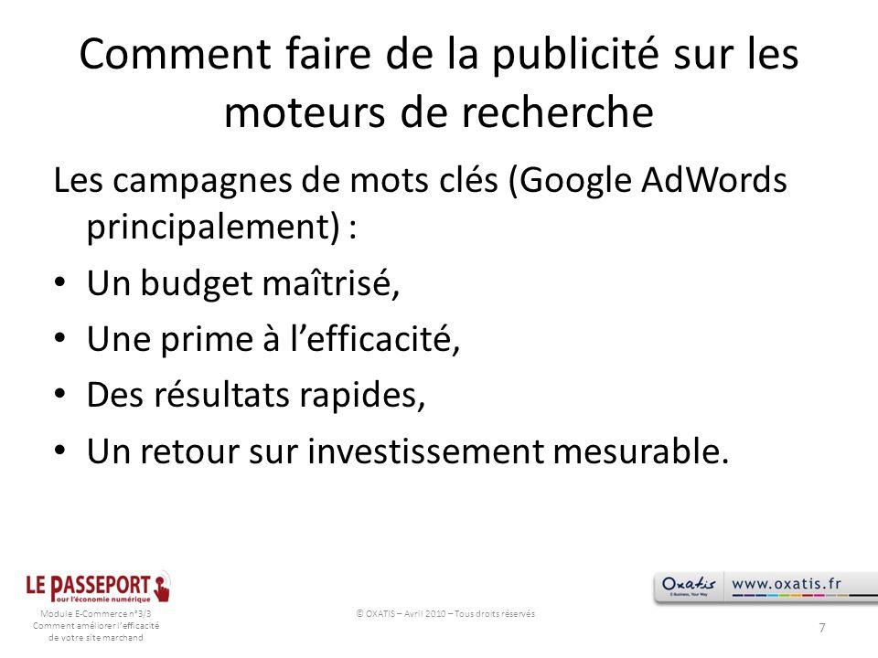 Comment faire de la publicité sur les moteurs de recherche