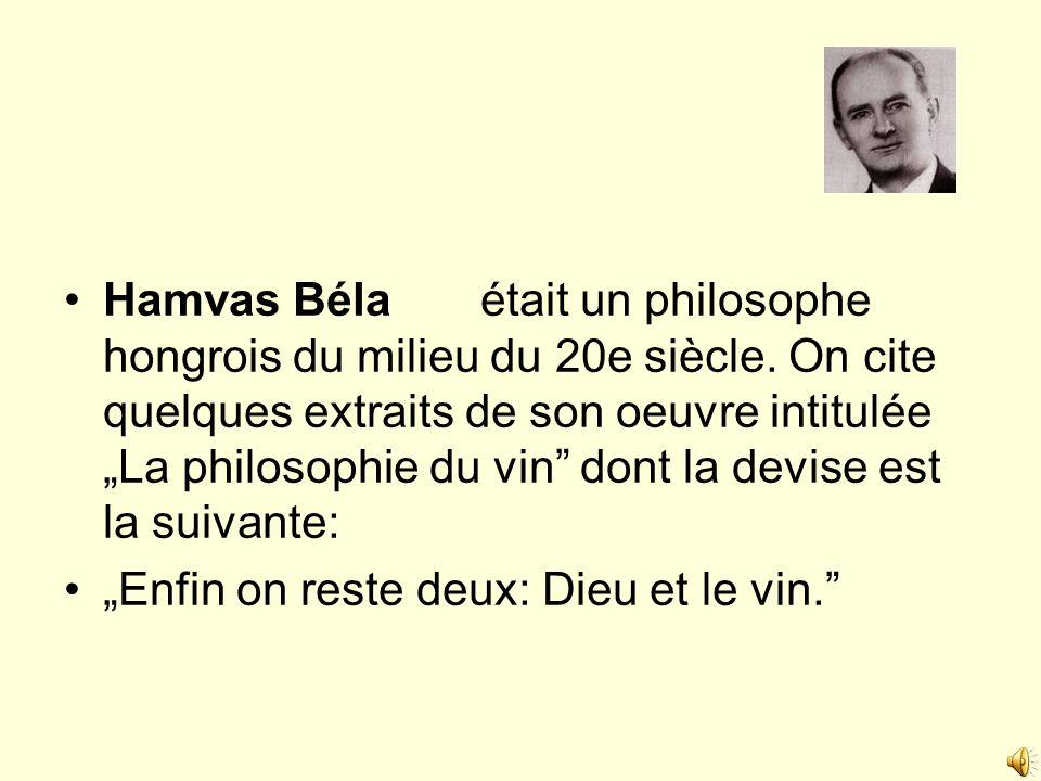 Hamvas Béla. était un philosophe hongrois du milieu du 20e siècle
