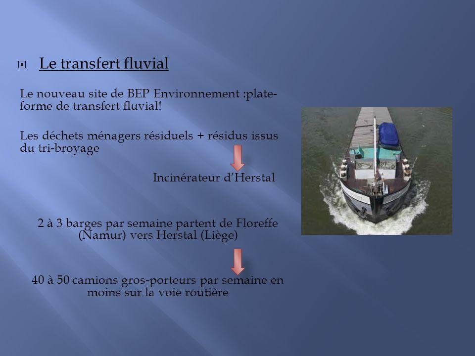 Le transfert fluvial Le nouveau site de BEP Environnement :plate-forme de transfert fluvial!