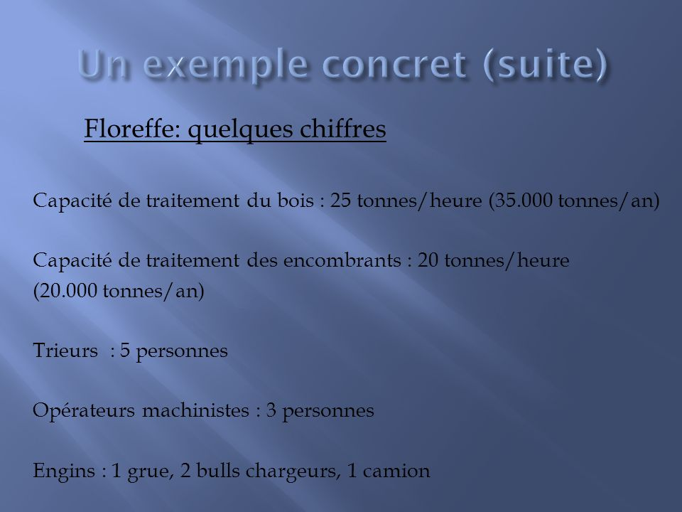 Un exemple concret (suite)