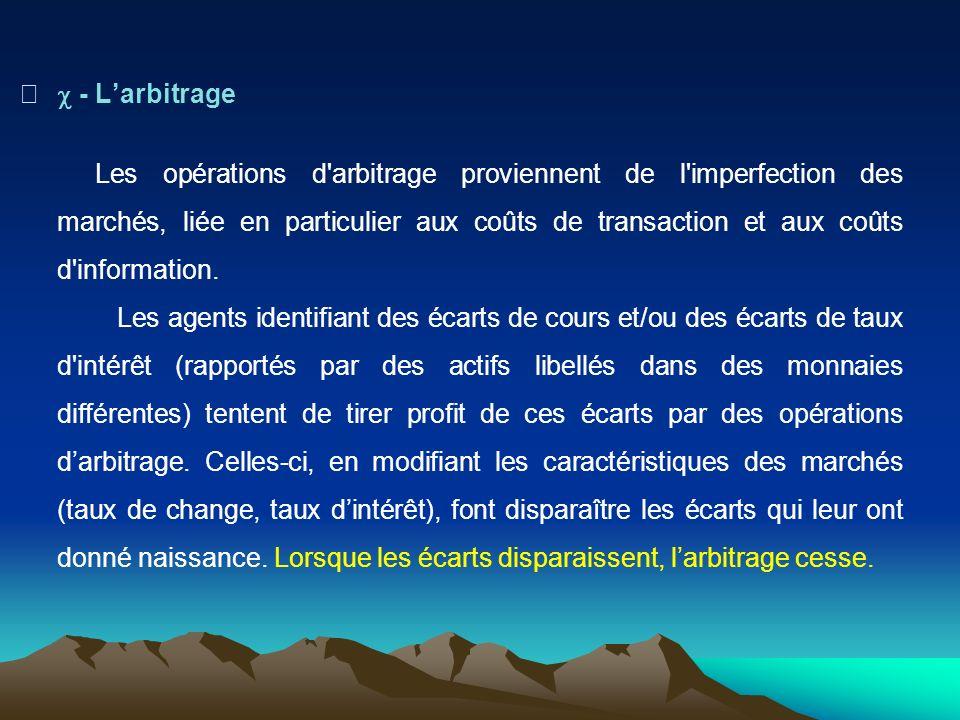 c - L'arbitrage
