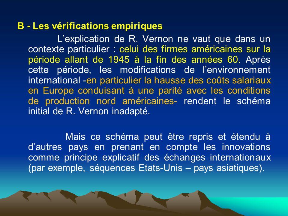 B - Les vérifications empiriques