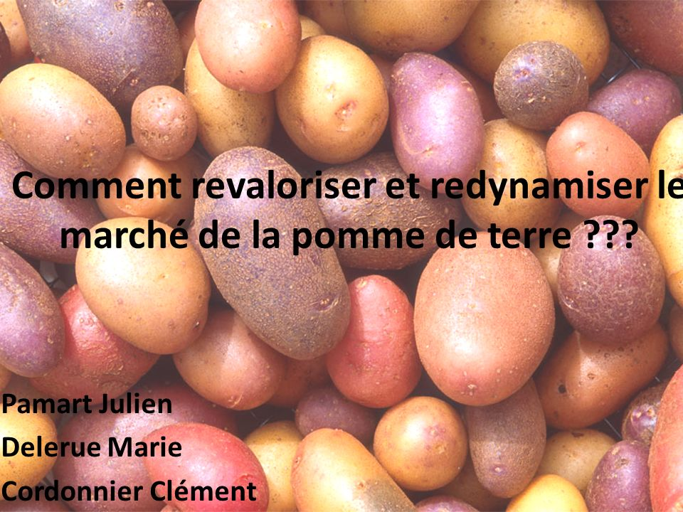 Comment revaloriser et redynamiser le marché de la pomme de terre