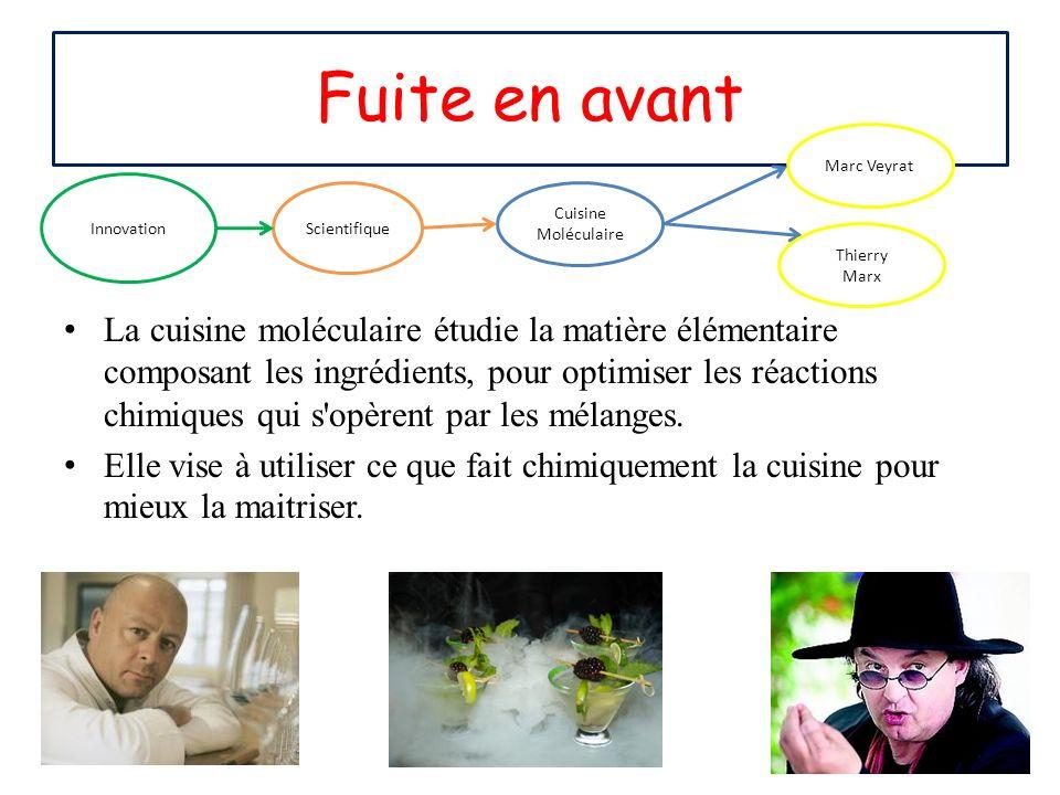 Fuite en avant Marc Veyrat. Innovation.