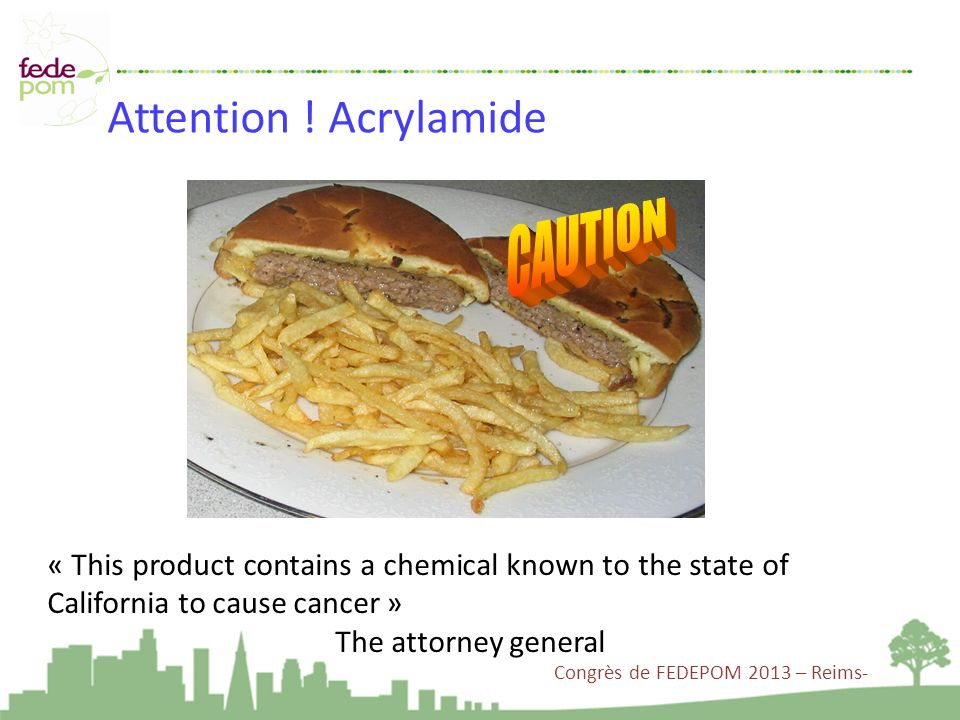 Attention ! Acrylamide CAUTION