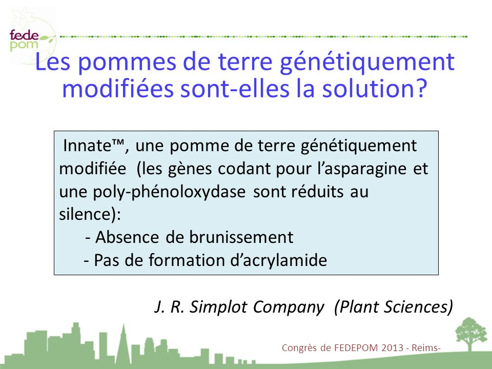 Les pommes de terre génétiquement modifiées sont-elles la solution