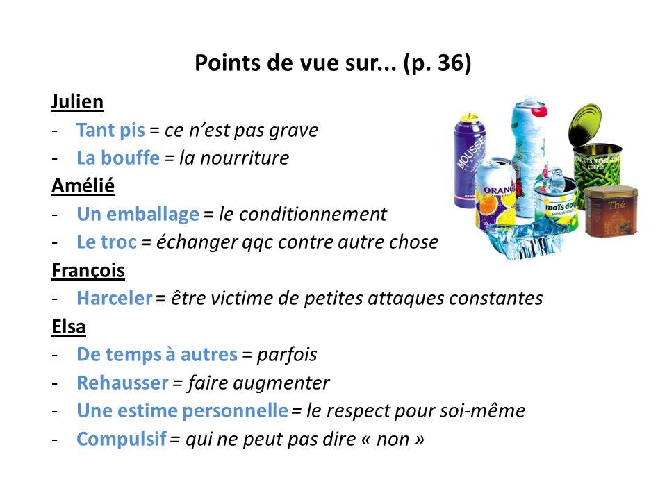 Points de vue sur... (p. 36) Julien Tant pis = ce n'est pas grave