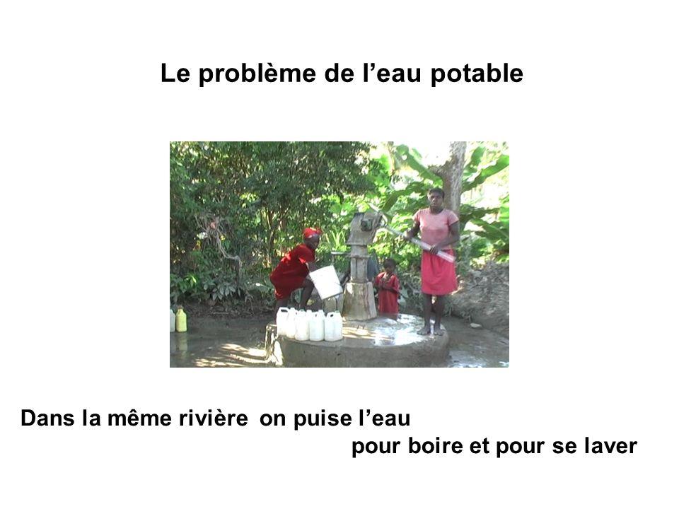Le problème de l'eau potable