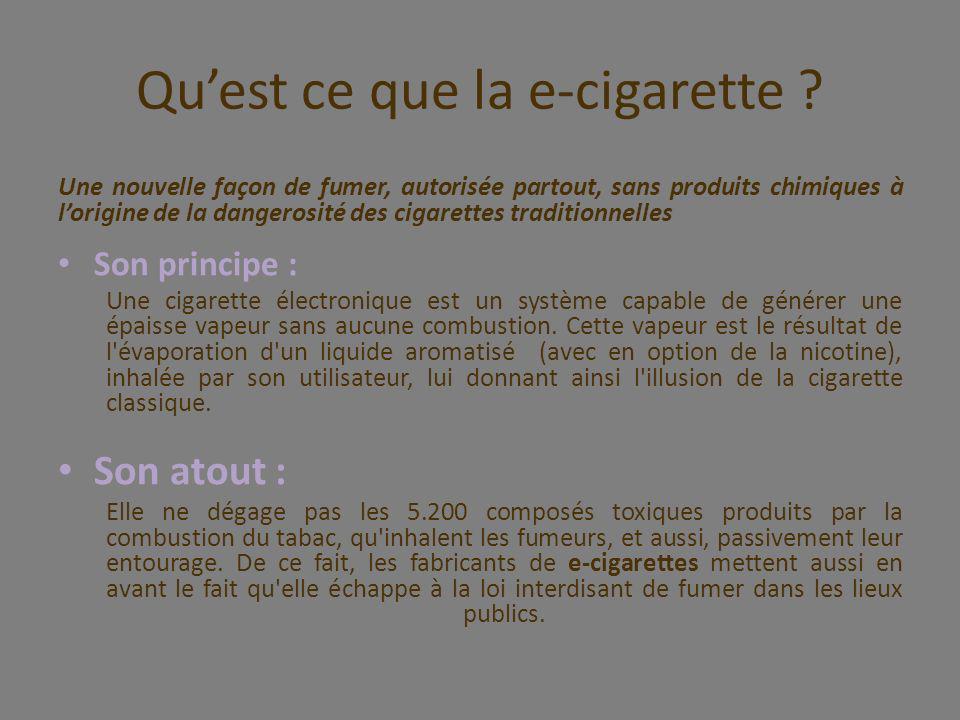Qu'est ce que la e-cigarette