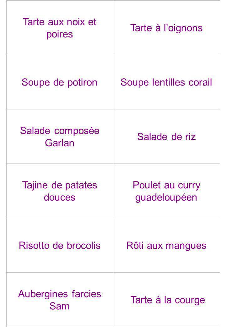 Tarte aux noix et poires Tarte à l'oignons