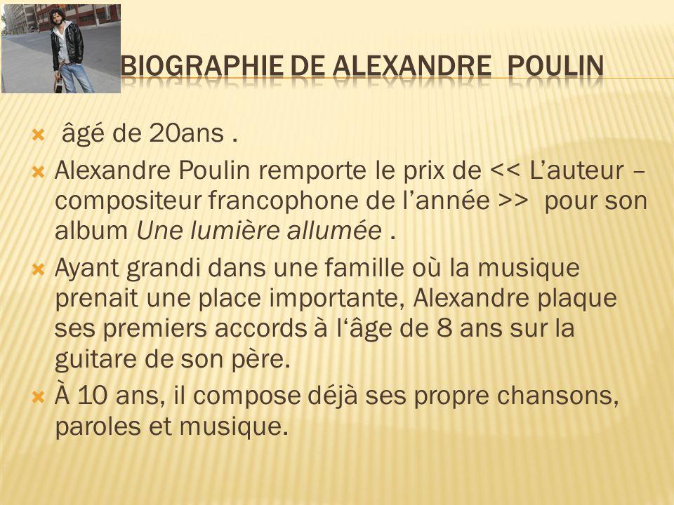 Biographie de Alexandre Poulin