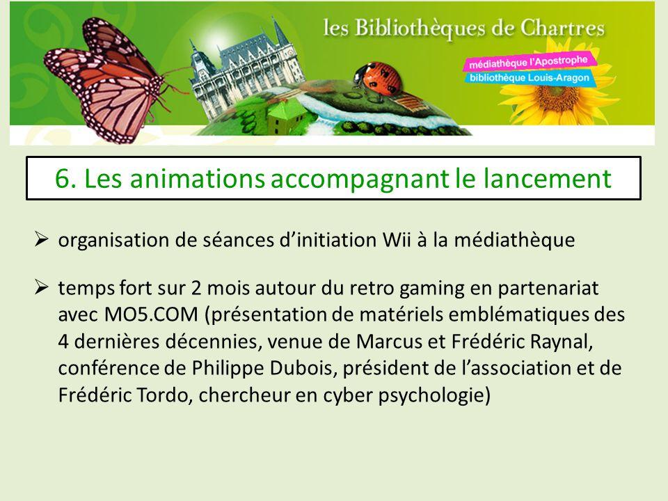 6. Les animations accompagnant le lancement