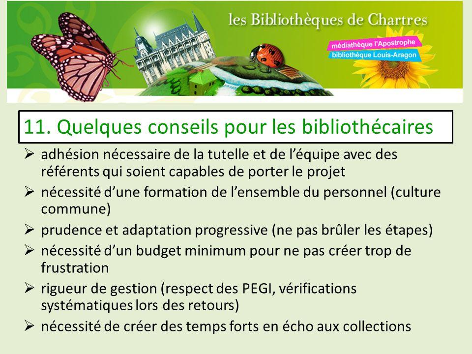 11. Quelques conseils pour les bibliothécaires