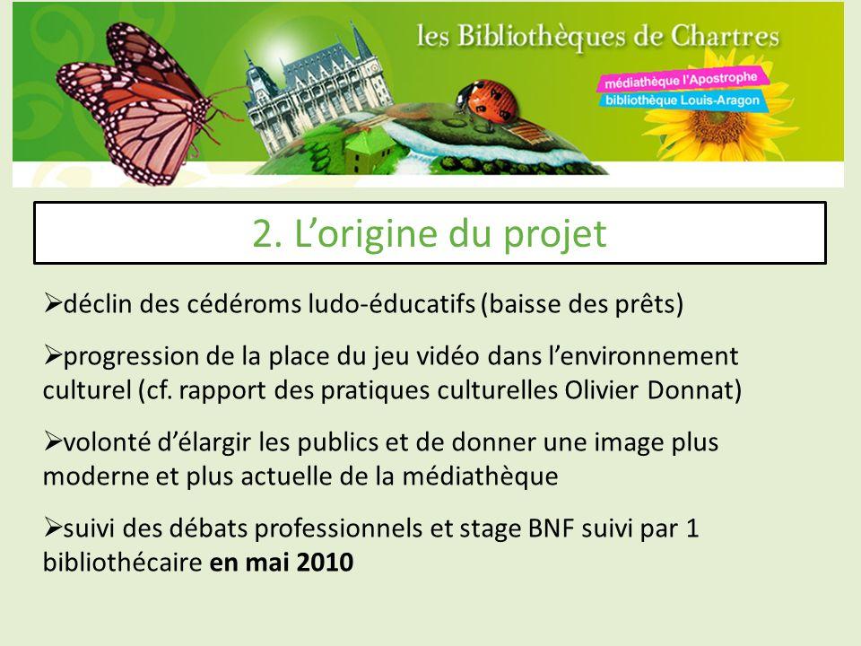 2. L'origine du projet déclin des cédéroms ludo-éducatifs (baisse des prêts)