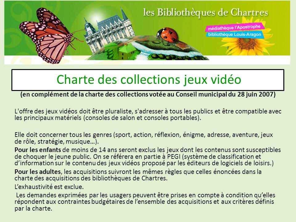 Charte des collections jeux vidéo