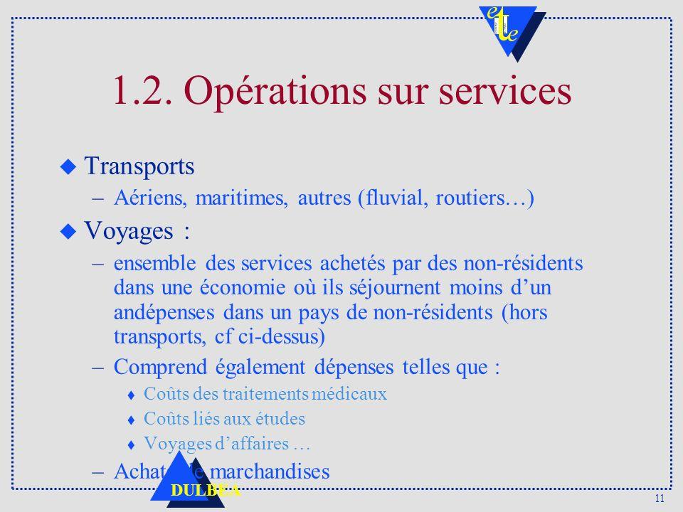 1.2. Opérations sur services